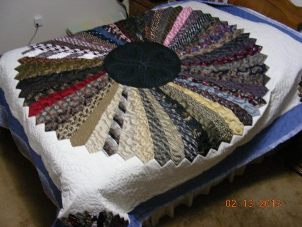 Betty L ~ Necktie Quilt