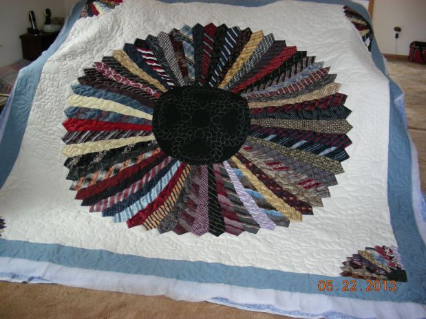 Betty L Necktie Quilt 2