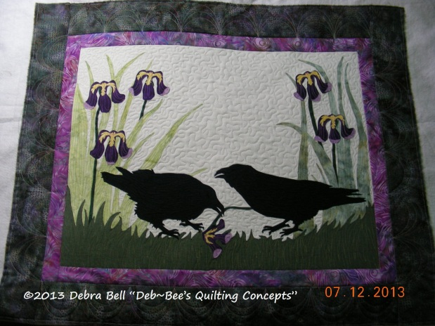 Raven Wallhanging by Lynda K