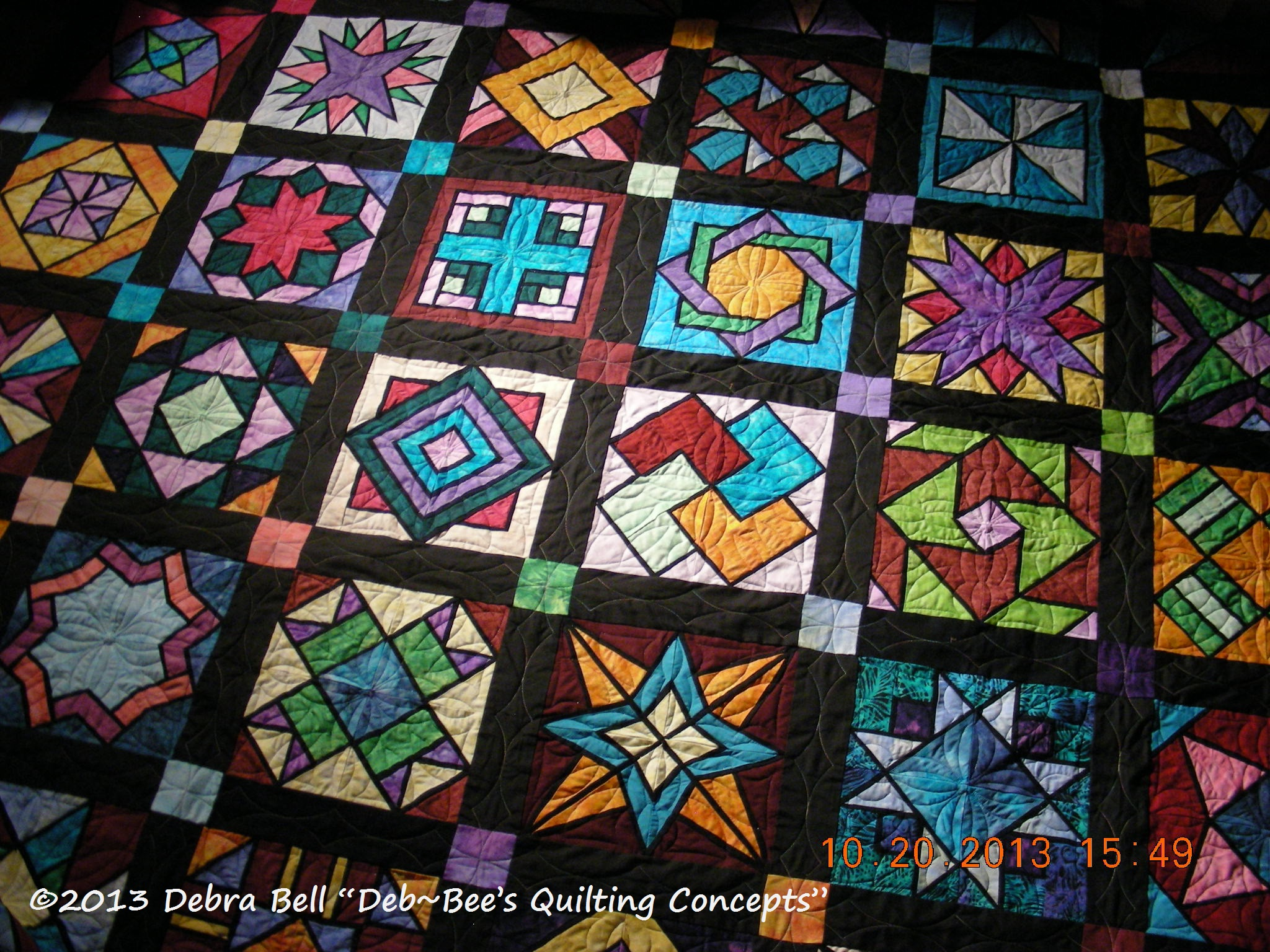 Jo T Stained Glass Quilt Deb Bee S Quilting Concepts